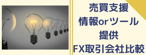 FXの売買を支援する情報やツール